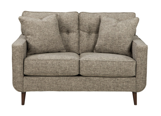 Edgar Fabric Loveseat Beige