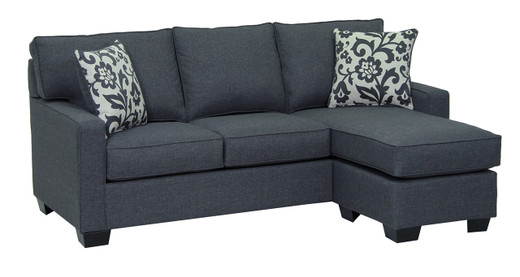 Rex Fabric Reversible Sectional Double Sofa Bed
