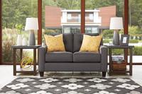 Ivy Fabric Love seat Grey