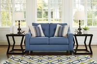 Ivy Fabric Love seat Blue