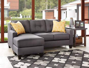 Ivy Fabric Reversible Sectional Grey