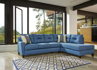 Sydney Right Facing Sectional Blue Fabric