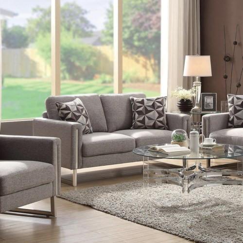 Astoria Fabric Love seat Grey