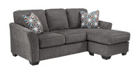 Elton Fabric Reversible Sofa Bed Sectional Slate Grey