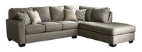 Grover Fabric Right Facing Sectional Grey