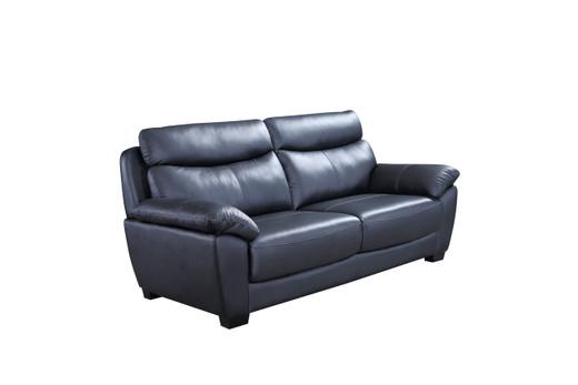 Evan Genuine Leather Sofa Black