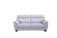Evan Genuine Leather Sofa Grey