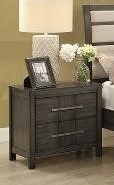 Sandra Two Drawer Nightstand Grey