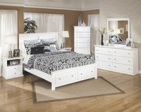 Maribel Queen Storage Bed w/rails White