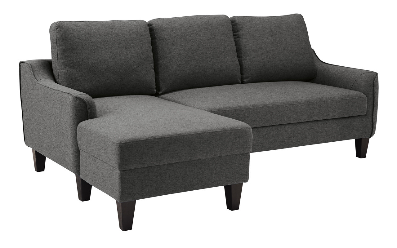 Amazing Tahoe Fabric Left Hand Facing Sectional Sofa Bed Grey Pdpeps Interior Chair Design Pdpepsorg
