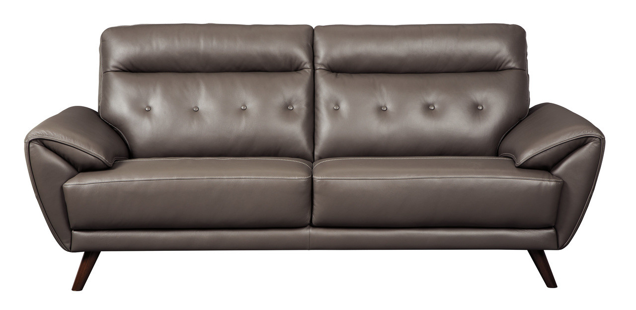 Phenomenal Lexie Genuine Leather Sofa Grey Unemploymentrelief Wooden Chair Designs For Living Room Unemploymentrelieforg