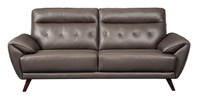 Lexie Genuine Leather Sofa Grey