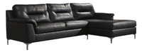 Adair Fabric Right Facing Sectional Black