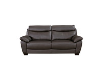 Evan Genuine Leather Sofa Brown