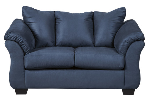 Madison Fabric Loveseat Blue