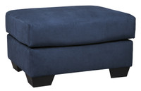 Madison Fabric Ottoman Blue