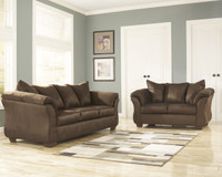 Madison Fabric Sofa & Love Seat Cafe