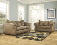 Madison Fabric Sofa & Love Seat Mocha