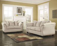 Madison Fabric Sofa & Love Seat Stone