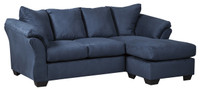 Madison Fabric Reversible Sectional Blue