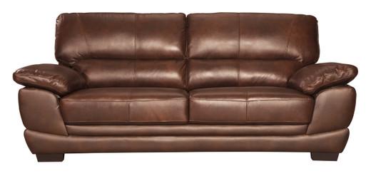 Zane Genuine Leather Sofa Brown