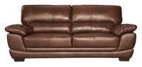 Zane Genuine Leather Sofa Brown