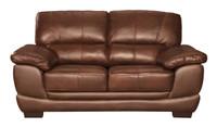 Zane Genuine Leather Loveseat Brown