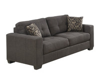 Lacey Sofa or Couch in Grey fabric