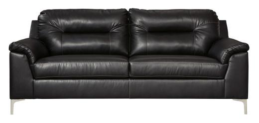 Adair Faux Leather Sofa Black