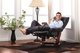 Dean Bonded Leather Recliner Brown