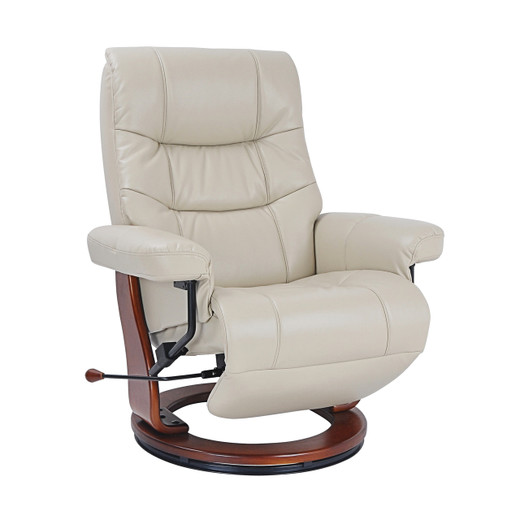 Dean Bonded Leather Recliner Stucco