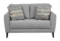 Perri Fabric Loveseat Grey