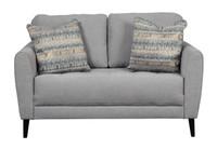 Perri Fabric Loveseat Grey