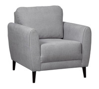 Perri Fabric Chair Grey
