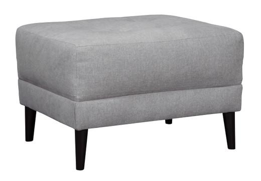 Perri Fabric Ottoman Grey