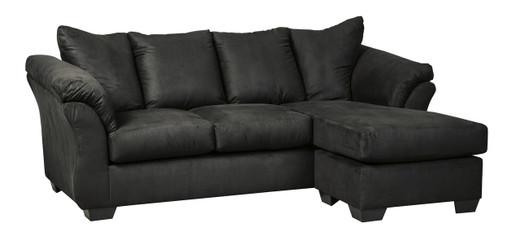 Madison Fabric Reversible Sectional Black