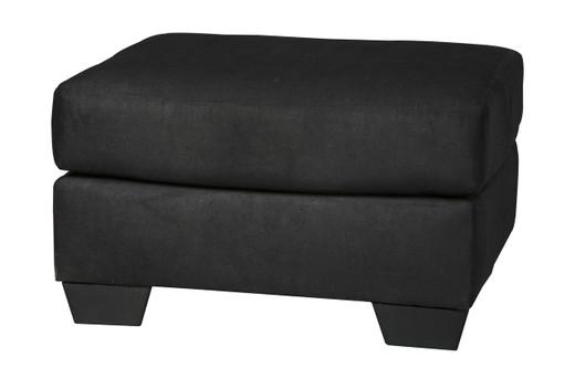 Madison Fabric Ottoman Black