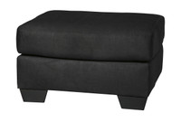 Madison Fabric Ottoman Black