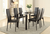 Milan 7pc Dining Set Black