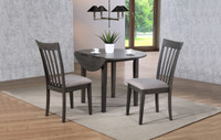 Delfini 3pc Drop Leaf Dining Set Grey