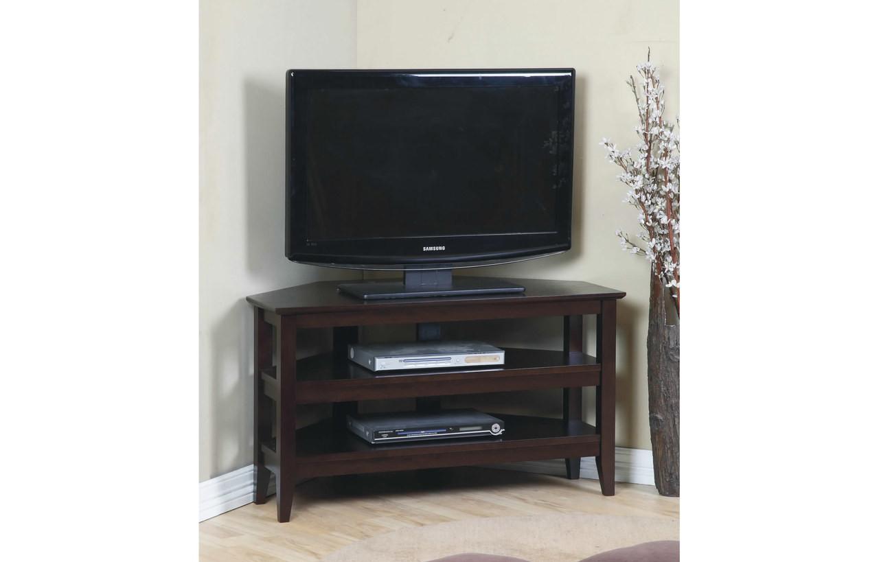 Quadra Corner Tv Stand Espresso Pallucci Furniture