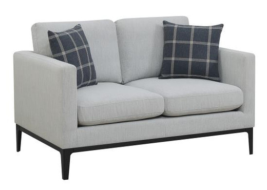 Zoey Fabric Loveseat Grey