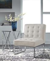 Poppy Fabric Chair Cream