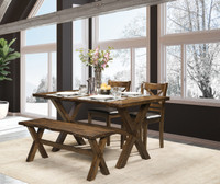 Raven 4pc Dining Set with Bench