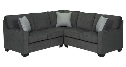 Rex Fabric Corner Sectional Grey