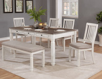 Melva 6 Piece Dining Set with Bench