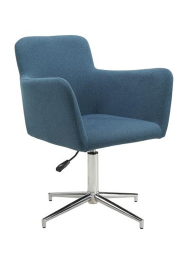 Marney Swivel Dining Chair Blue