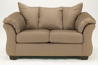Madison Fabric Loveseat Mocha