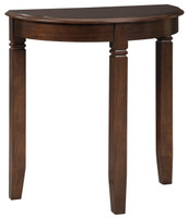 Birchatta Half Moon Accent Table Brown