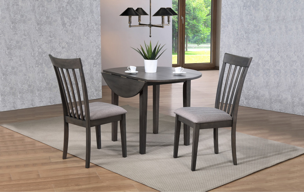Image of: Delfini Drop Leaf Dining Table Grey Pallucci Furniture